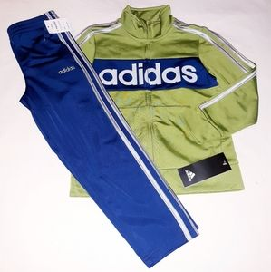 Adidas Boys 2pc Warmer Track Suit